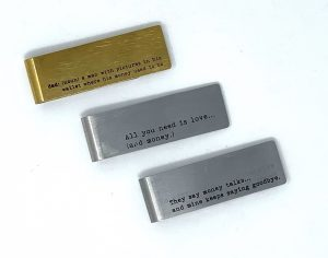 Witty money clips